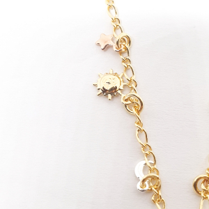 Bratara pentru glezna placata cu aur 18-23 cm Cupio3