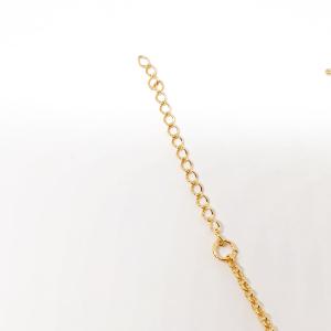 Bratara pentru picior placata cu aur 23-28 cm Dolphinna5