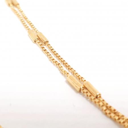 Bratara dubla placata cu aur 23 cm Inna [2]