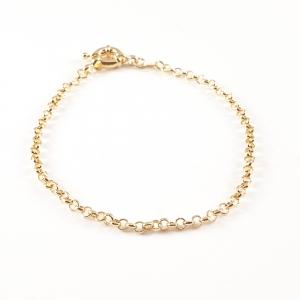 Bratara 22 cm placata cu aur Luann5