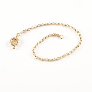 Bratara 22 cm placata cu aur Luann3