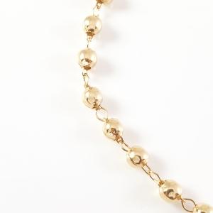 Bratara tip rosariu placata cu aur Blessed3