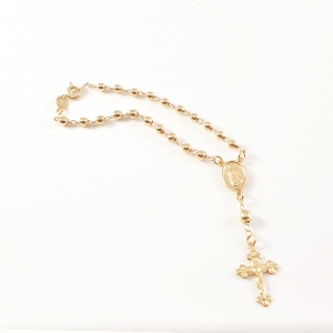 Bratara tip rosariu placata cu aur Blessed4