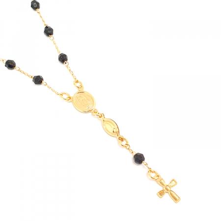 Bratara tip rosariu placata cu aur 19 cm Kallea3