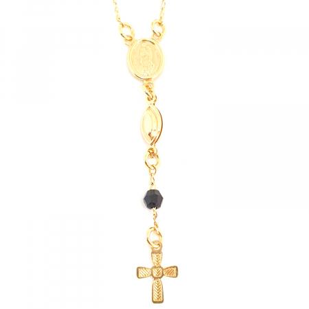 Bratara tip rosariu placata cu aur 19 cm Kallea1