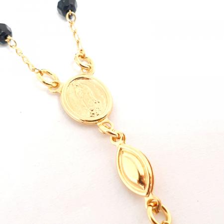 Bratara tip rosariu placata cu aur 19 cm Kallea6