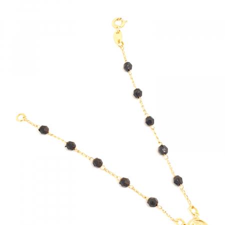 Bratara tip rosariu placata cu aur 19 cm Kallea4
