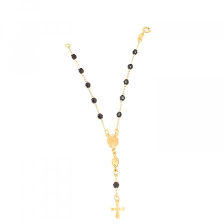 Bratara tip rosariu placata cu aur 19 cm Kallea0