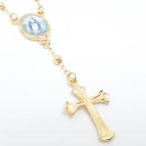 Bratara tip rosariu placata cu aur Alaska3