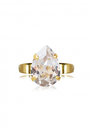 Inel cu cristal Swarovski dublu-placati cu aur Caroline S. [0]