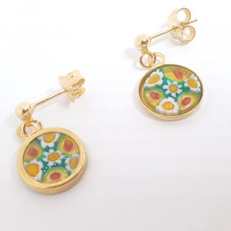 Cercei cu sticla de Murano cu montura placata cu aur Venezzia [2]