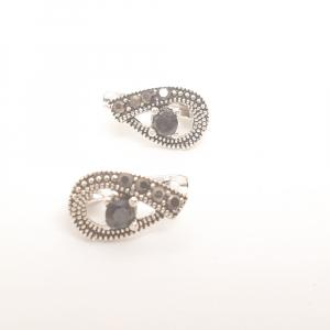 Cercei din argint Black Eyes3
