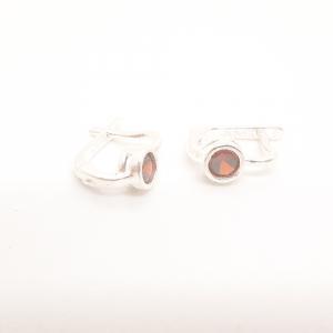 Cercei din argint Rubin2