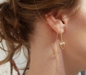 Cercei ear-cross placati cu aur My Precious1