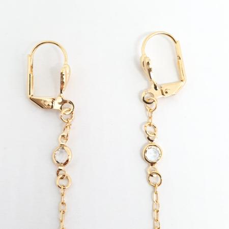 Cercei lungi 5.5 cm placati cu aur Crossi2