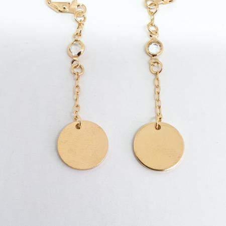 Cercei lungi 5.5 cm placati cu aur Crossi3
