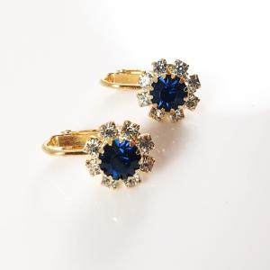 Cercei placati cu aur Blue2