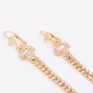 Cercei placati cu aur 18 K Rock & Shine4