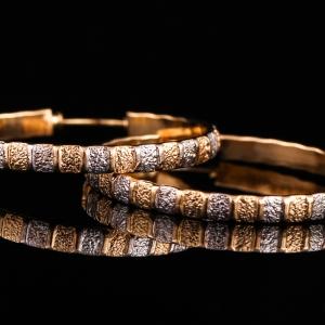 Cercei placati cu aur 18 K Rock & Shine0