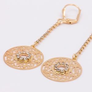 Cercei placati cu aur 18 K Rock & Shine3