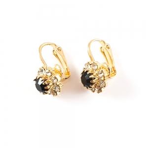 Cercei placati cu aur Black1