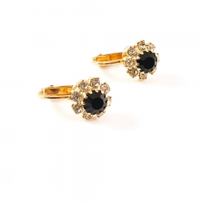 Cercei placati cu aur Black2