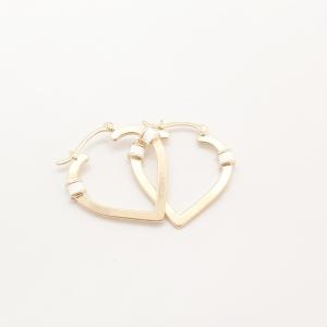 Cercei placati cu aur Hearty5