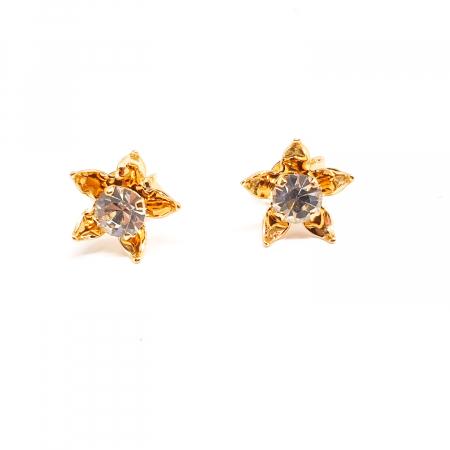 Cercei mici placati cu aur Urbika0