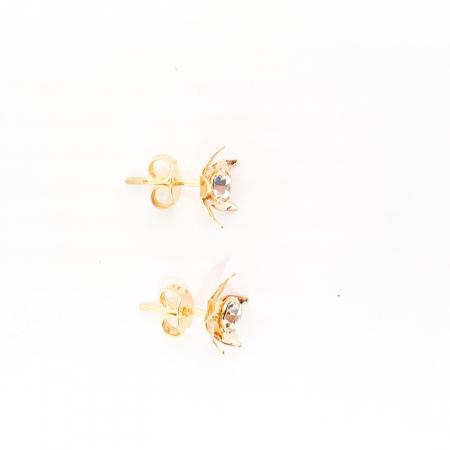 Cercei mici placati cu aur Urbika3