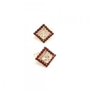 Cercei placati cu aur SaraTremo [4]