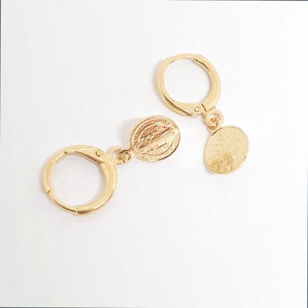 Cercei placati cu aur SaraTremo [3]