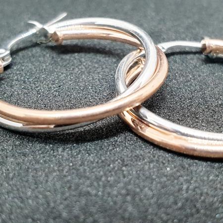 Cercei rotunzi din argint 1.8 cm Granada [1]