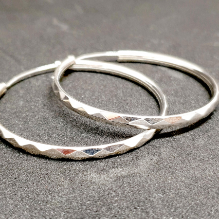 Cercei rotunzi din argint 3.5 cm Katalog [0]