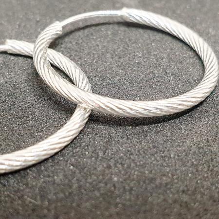 Cercei rotunzi din argint 2.3 cm Fraction0