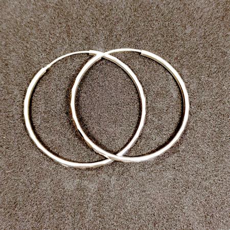 Cercei rotunzi din argint 4.4 cm Transformation [2]