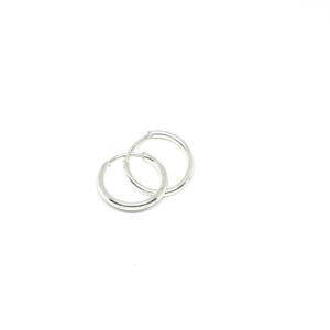 Cercei rotunzi din argint pentru botez 1 cm Stand [0]