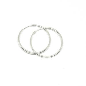 Cercei rotunzi din argint 2 cm Demos [0]