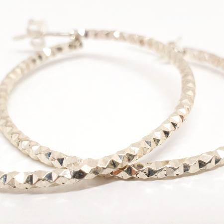 Cercei rotunzi din argint 4 cm Sabinne4