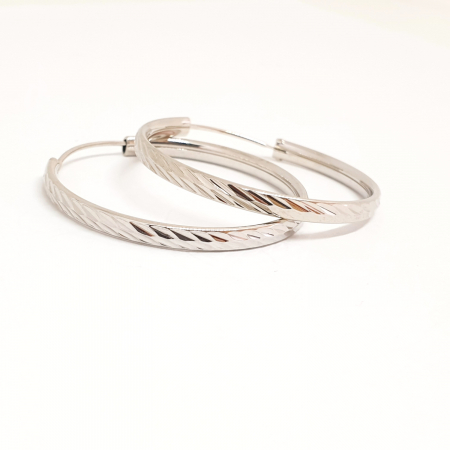 Cercei rotunzi din argint 3.2 cm Lygia1