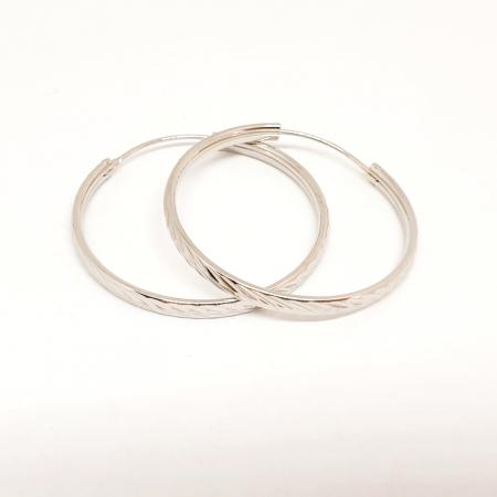 Cercei rotunzi din argint 3.2 cm Lygia0