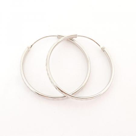 Cercei rotunzi din argint 3.2 cm Lygia2