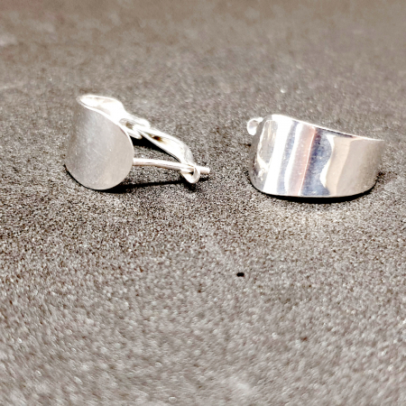 Cercei rotunzi din argint 1.5 cm Gatta [4]