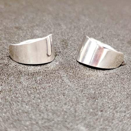 Cercei rotunzi din argint 1.5 cm Gatta [5]