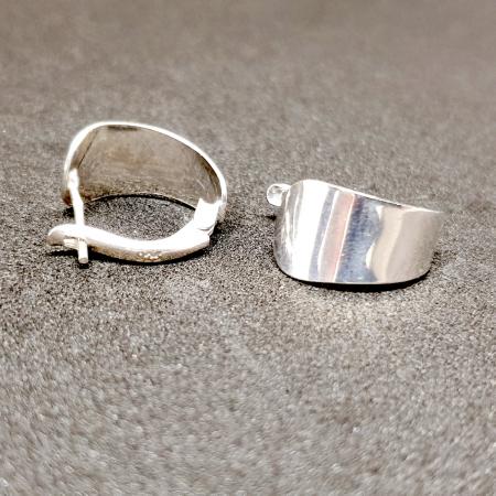 Cercei rotunzi din argint 1.5 cm Gatta3