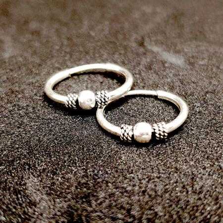 Cercei rotunzi din argint pentru botez 1.5 cm Precious Silver0