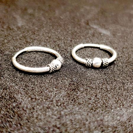 Cercei rotunzi din argint pentru botez 1.5 cm Precious Silver1