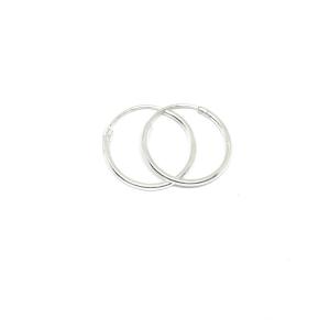 Cercei rotunzi din argint pentru botez 1.5 cm Unlimited0