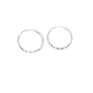 Cercei rotunzi din argint pentru botez 1.5 cm Unlimited1