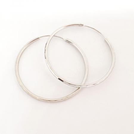 Cercei rotunzi din argint 4.2 cm Cybil1