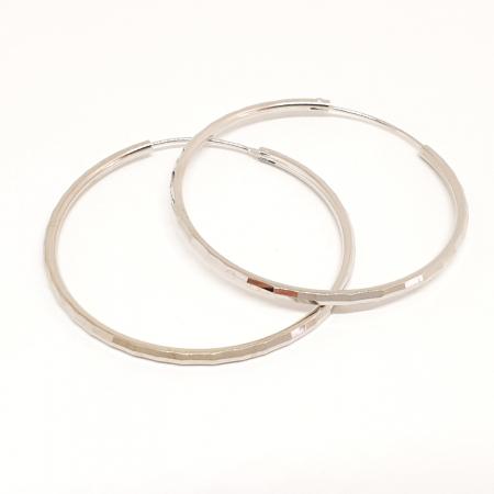 Cercei rotunzi din argint 4.2 cm Cybil0